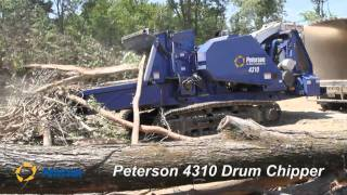 Video still for Peterson 4310 Drum Chipper Making Biomass