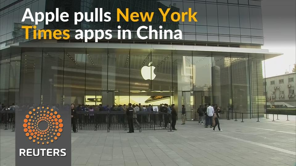Apple removes New York Times apps in China