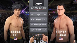 Bruce Lee Vs Steven Seagal | EA Sports UFC 3 ASTONISHING KNOCKOUT!!! MUST WATCH!!!
