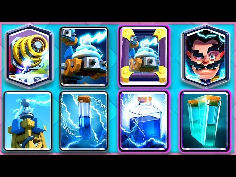 ALL ZAP DECK CLASH ROYALE! (Zappies Sparky E-Wiz Tesla Zap Lightning Mirror Clone)