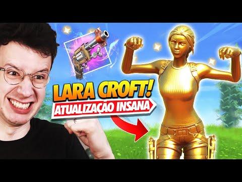 LARA CROFT DOURADA & NOVA ARMA EXÓTICA!! - FORTNITE