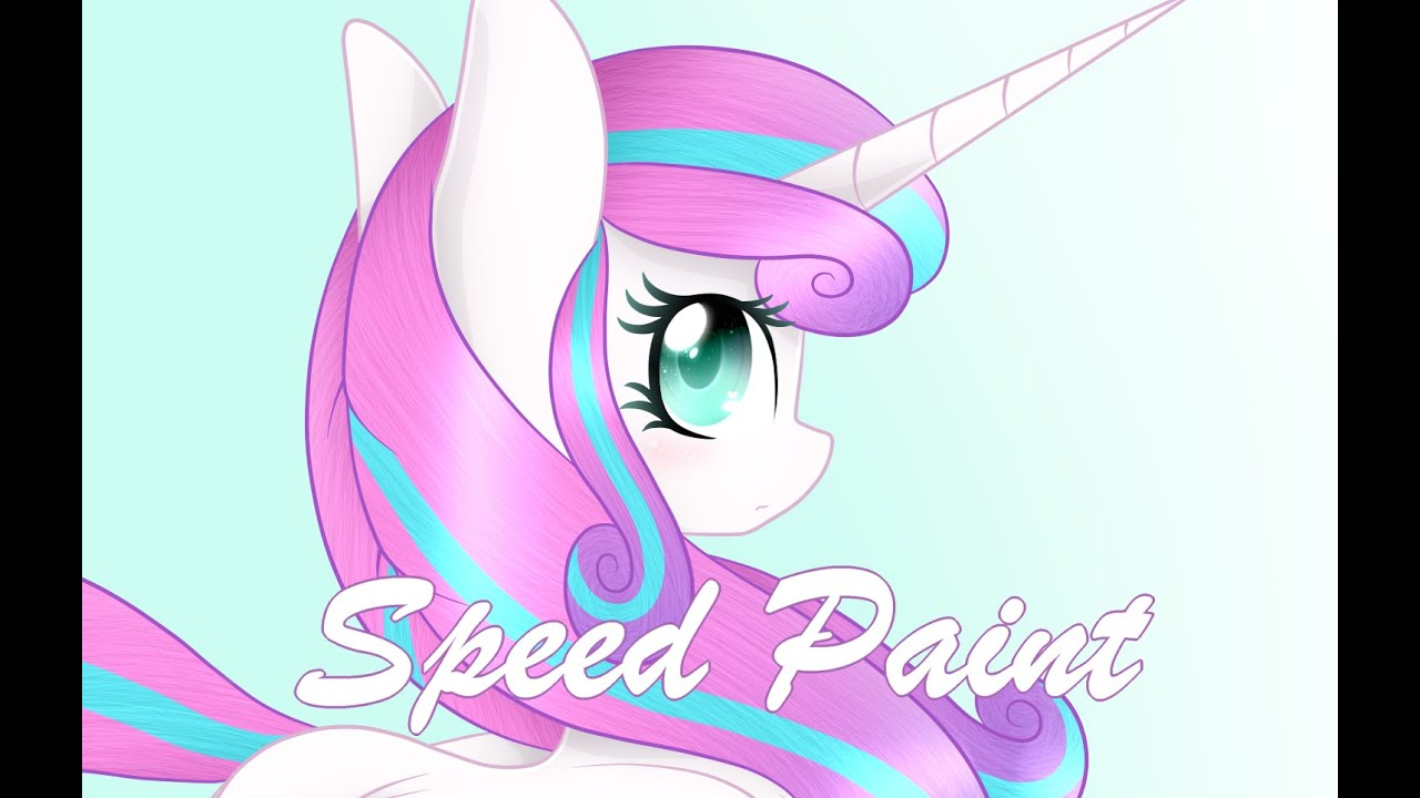 Princess Flurry Heart Mlp Speedpaint Youtube