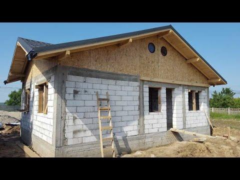 Constructii case de zidarie, cu BCA, la rosu -  constructia casei de la Aninoasa, jud  Dambovita