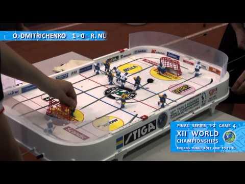 Настольный хоккей-Table hockey-WCh-2011-DMITRICHENKO-NUTTUNEN-Game4-com-SPIVAK-LEVD