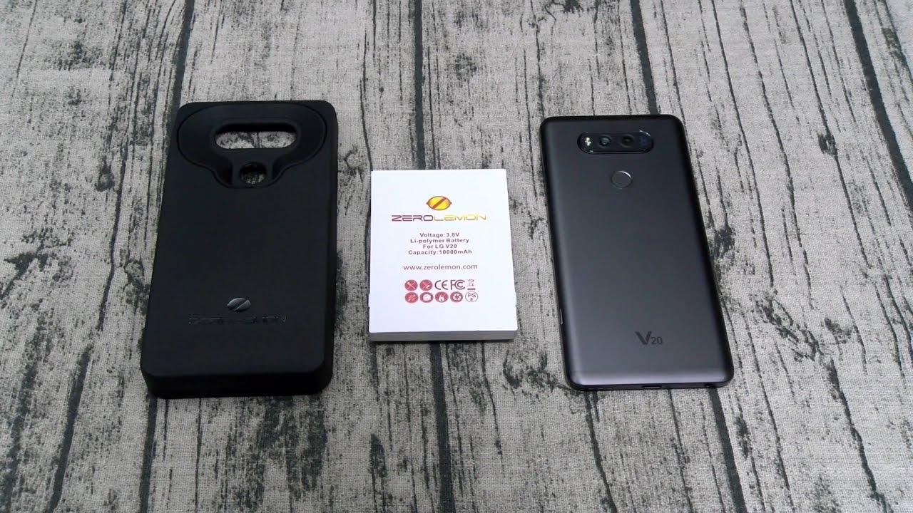 newest 59e77 237e5 LG V20 ZeroLemon 10,000mAh Extended Battery Case