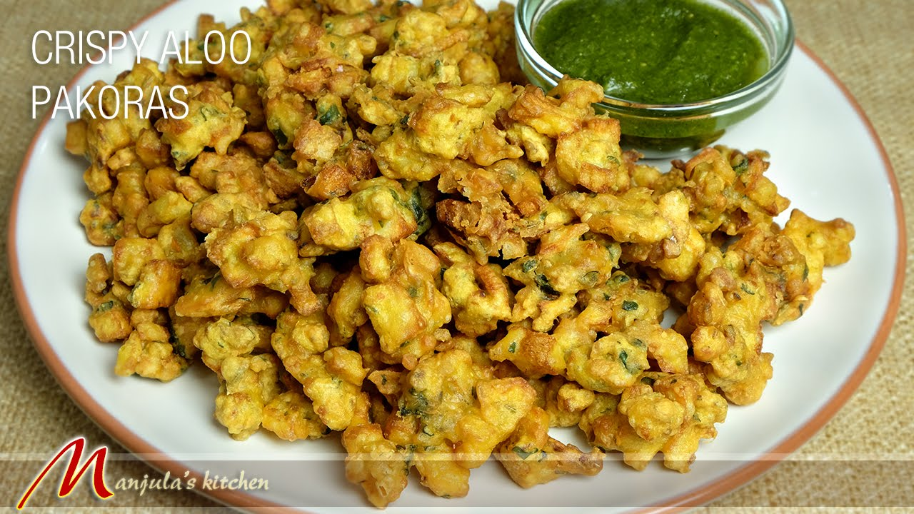 crispy aloo pakoras potato fritters recipe by manjula youtube - Manjulas Kitchen 2