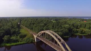 Скнятино. Мосты через реки Нерль и Волнушка. Перегон в Савеловской глухомани Белый городок- Калязин