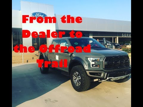 Straight from the Dealership to Moab, Utah... Ford Raptor Delivery!!!