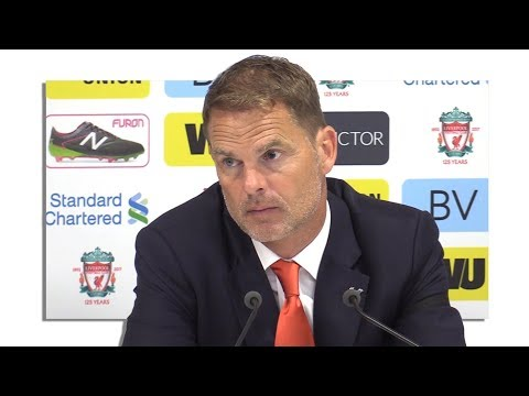 Liverpool 1-0 Crystal Palace - Frank de Boer Full Post Match Press Conference - Premier League