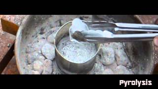 Dropping Ice Into Molten Lead