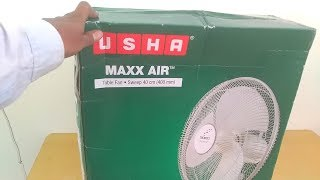 Usha Maxx Air 400mm Table Fan - Unboxing & Assembling (Hindi)