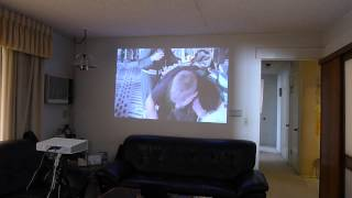 LG PA70G--LED Projector--Soft Lighted Room Demo Test