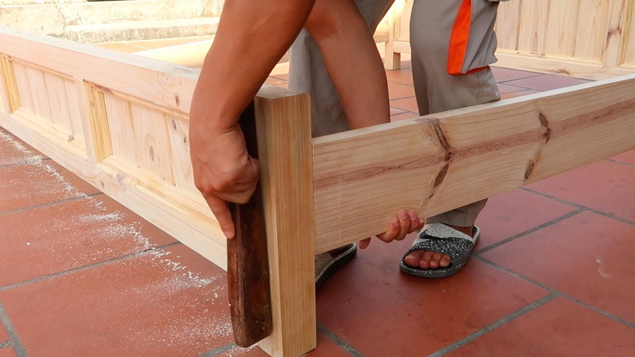 Simple Woodworking Projects That You Can Do DIY At Home // An Extremely Sturdy And Best Quality Bed