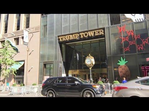 A New-York, la tour de Donald Trump attire ses admirateurs