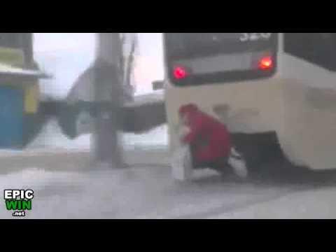 Grandma Catches Free Ride on Streetcar