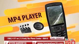 Homeshop18.com - I KALL 4.57 cm (1.8 inch) Bar Phone Combo - K6610