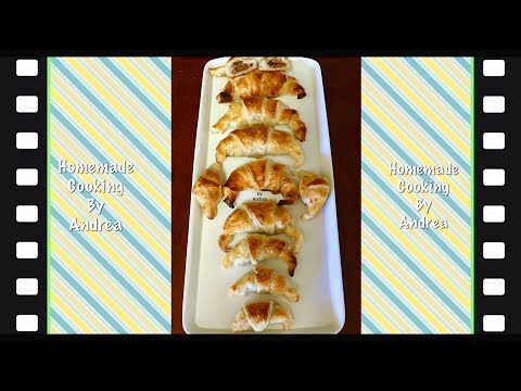 Chocolate and Caramel Filled Croissant by Andrea