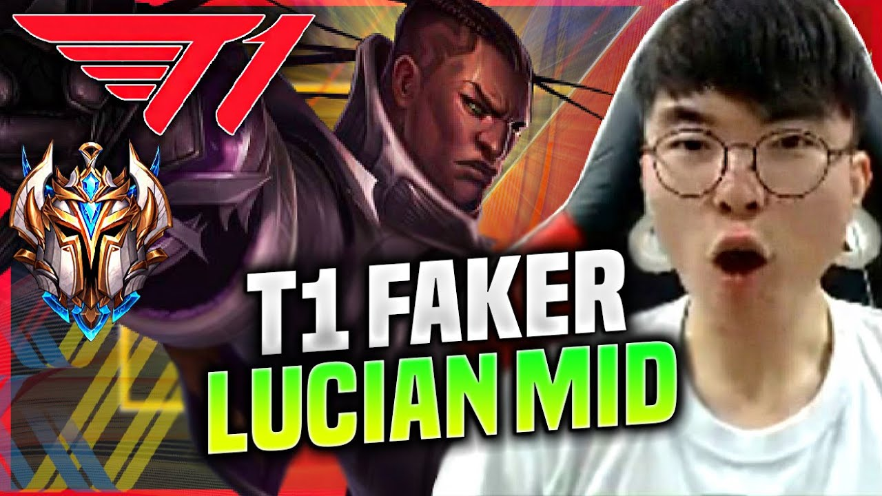 FAKER SO MUCH DAMAGE WITH LUCIAN! - T1 Faker Plays Lucian Mid vs Camille! | KR SoloQ Patch 10.19