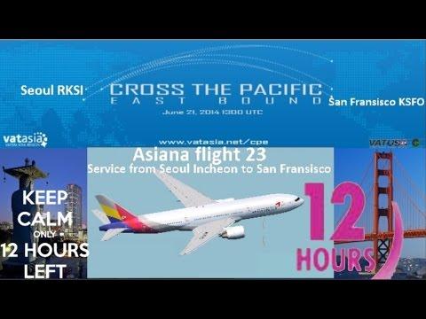 12 hours of Vatsim in HD: Cross the Pacific PMDG 777-200LR