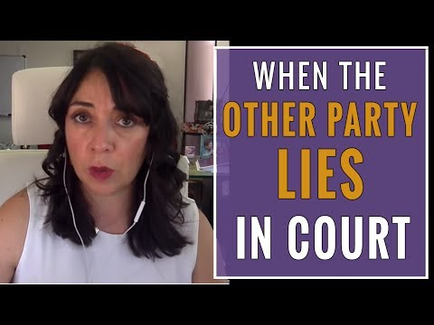 When One Party In A Child Custody Battle LIES In Court