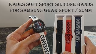 Kades Silicone Replacement Bands for Samsung Gear Sport and other 20mm Watches
