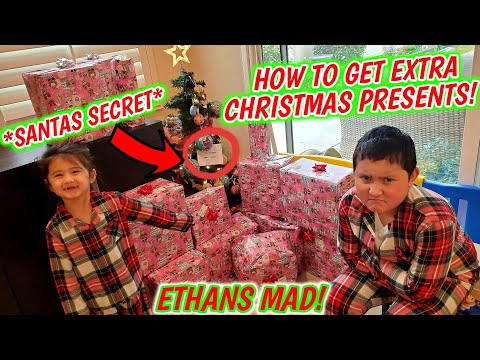 HOW TO MAKE SANTA BRING YOU EXTRA CHRISTMAS PRESENTS! SECRET THAT PARENTS DONT KNOW! Opening Gifts!