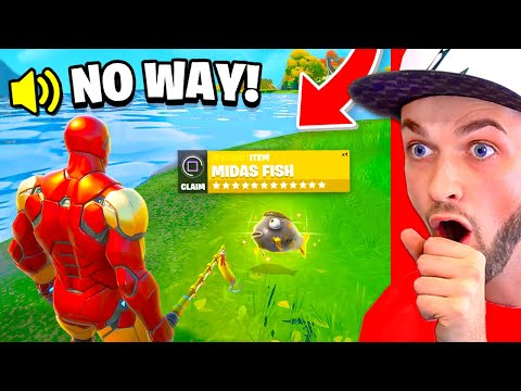 *NEW* MIDAS FISH FOUND in Fortnite!? (0.0001% CHANCE)