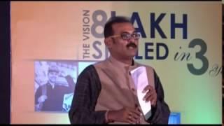 Odia actor Kuna Tripathy speaking to ITI students at OSDA inauguration