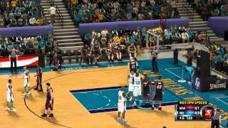 NBA 2K12 Gameplay PC Miami vs Hornets 4th quarter