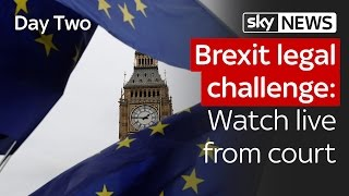 Brexit legal challenge: Day Two live from court