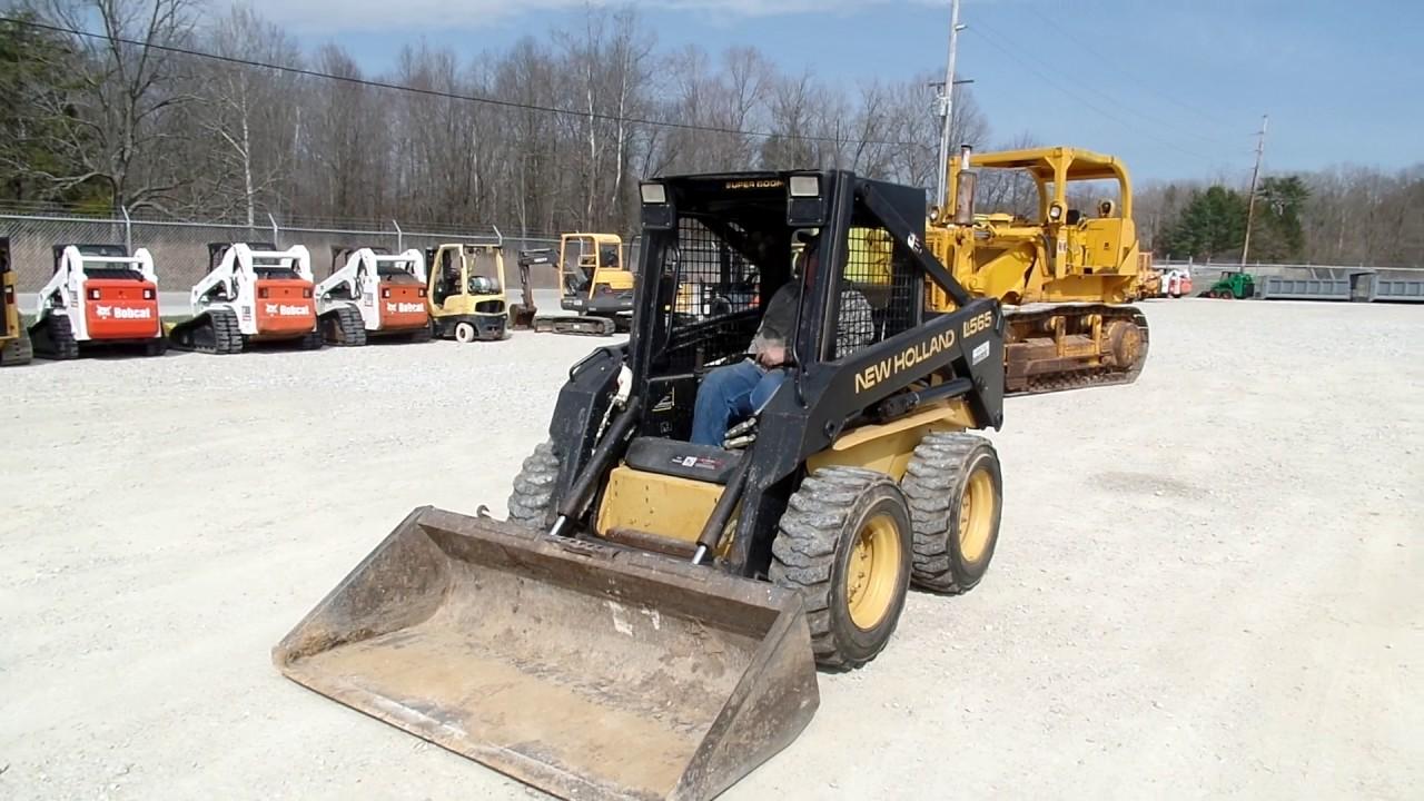 2000 New Holland LX565 skid loader C&C Equipment 812-336-2894 ccsurplus com