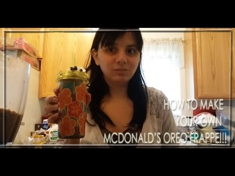How To Make Your Own McDonald's Oreo Frappe!!