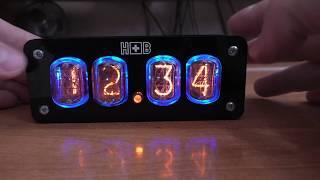 Часы с лампами ИН-12 - набор для сборки.