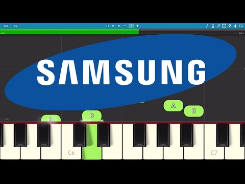 How to play the Samsung Whistle on piano