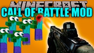 CALL OF BATTLE MOD  - Call of duty en minecraft??! - Minecraft mod 1.7.10 Review ESPAÑOL