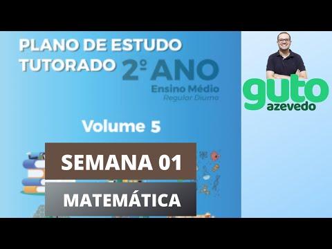 PET Volume 5 | 2º ano Ensino Médio | Semana 1 | Matemática | Correção das atividades | Guto Azevedo