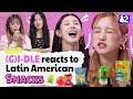 GI-DLE Reviews Latin American SnacksㅣKpop Idol Reviews Latin American Snacks