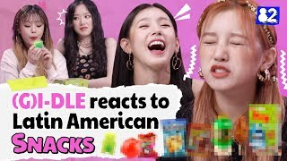 [Snack talk] (G)I-DLE Reviews Latin American Snacksㅣ Kpop Idol Reviews Latin American Snacks