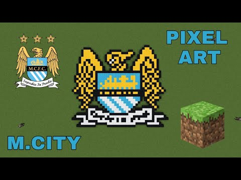 Manchester City Logo Minecraft Pixel Art Old Version Youtube