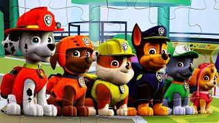 Щенячий патруль МЕГАЩЕНКИ собираем пазлы для детей с героями мультика щенячий патруль PAW Patrol