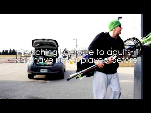 30 Adults Learn to Play Lacrosse for 1st Time... PURE AWESOME!