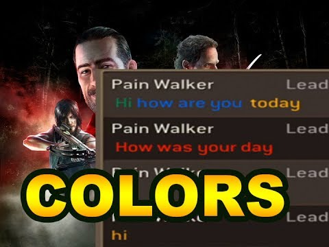 How to type in COLORS in the Guild Chat? AMAZING NEW FEATURE