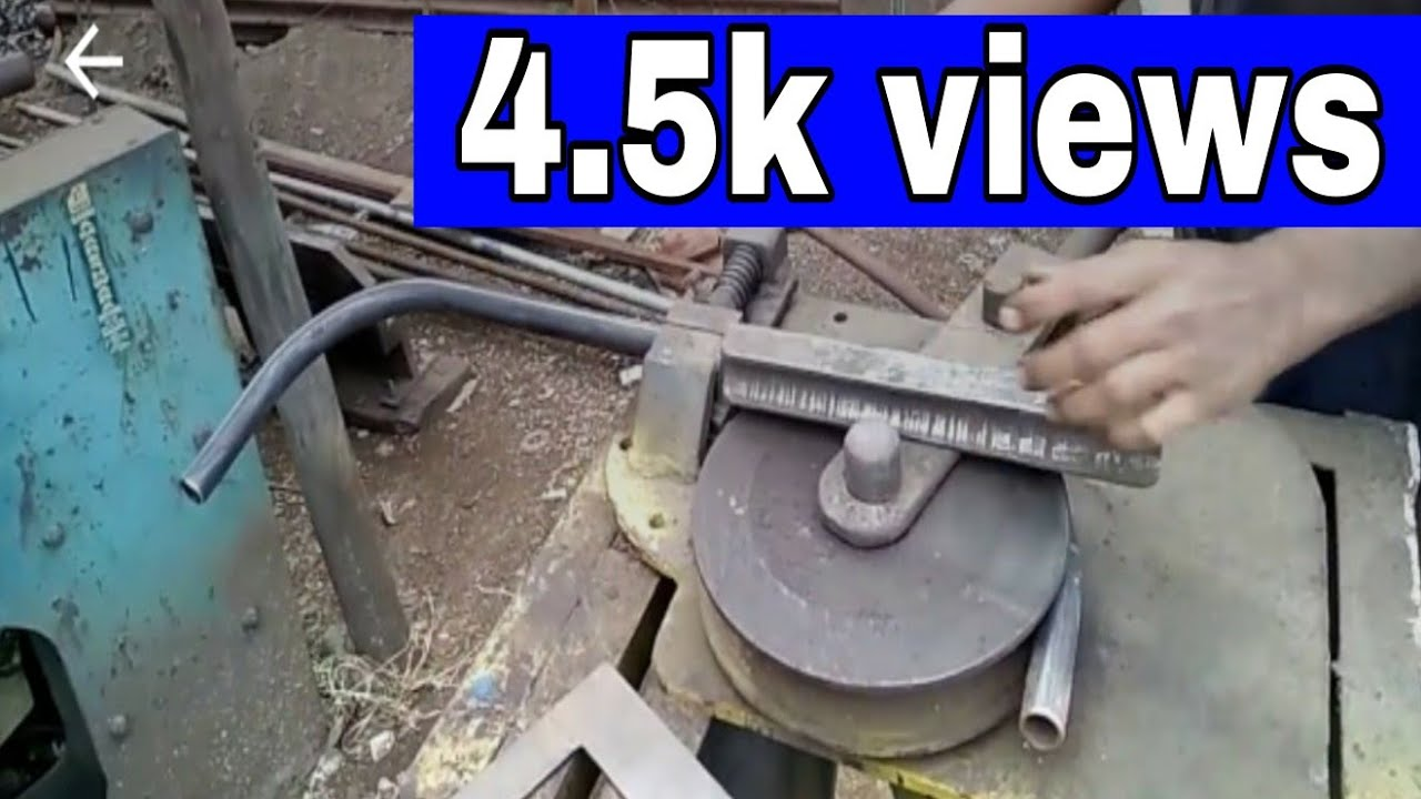 Home made pipe bender machine - YouTube