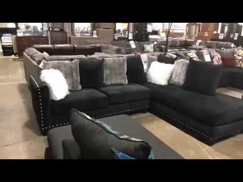 FB Live - Jet Black 2 PC Sectional Sofa