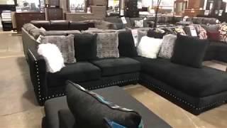 FB Live - Jet Black 2 PC Sectional Sofa