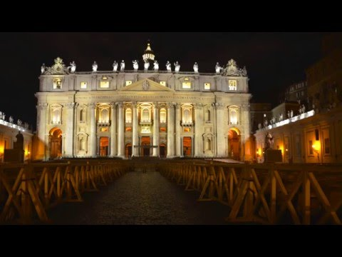 Vatican at Night on Saint Peter's Square