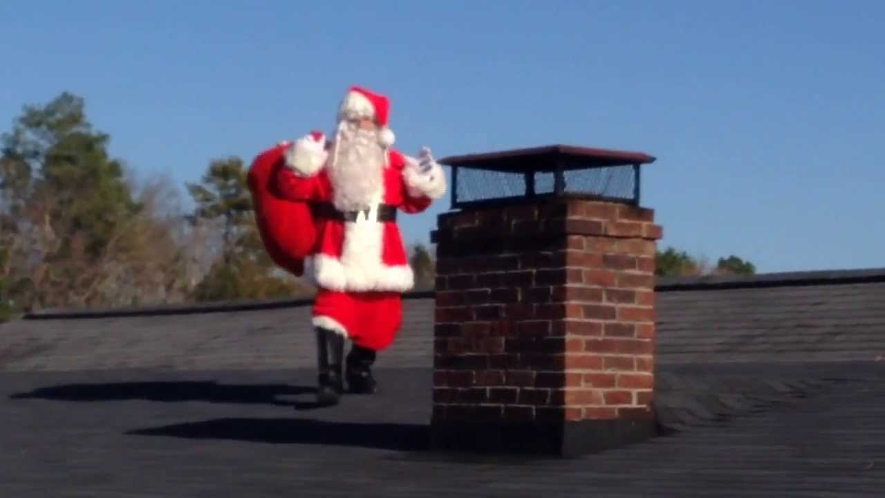 Santa On The Roof Top Very Funny Youtube