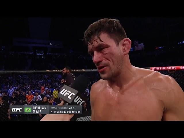 UFC Singapore: Demian Maia Octagon Interview