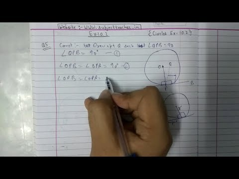 Chapter 10 Exercise 10.2 (Q5) CIRCLES || NCERT || Maths class 10