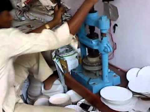 & Hand press manual paper plate machine - YouTube